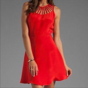 Parker Red Silk Dress